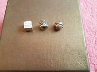 Stirling silver charm beads - Rhona Sutton x3