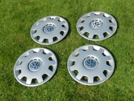 Vw Golf 4, 2002, Set of 4 genuine14 inch hubcaps. £10