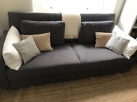 Stylish 3 person sofa with double bed and storage