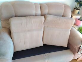 Sofa set of 2 with wheels in good condition