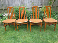 vintage hardwood dining chairs