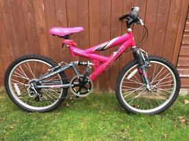 Girls Pink Mountain Bike