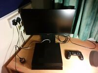 good ips full hd monitor + ps4 game console +4 games