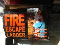 FIRE ESCAPE LADDER---FOLD AWAY---NEVER USED---bargain £28
