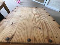 Solid Mexican pine coffee table