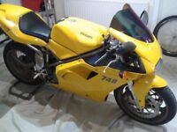 Ducati 748e Monoposto 2000 model immaculate condition genuine 6500 only!!