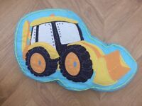 Kids' bedroom - digger bedding and accessories