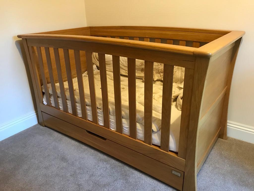 Mamas Papas Solid Oak Nursery Furniture Set