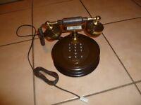 Working Vintage Retro Brown Telephone