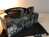 Men's Oakley Black Half Jacket Polarized Sunglasses