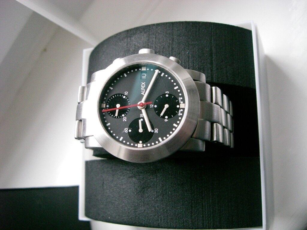 Alfex automatic mechanical chronograph wristwatch - Swiss - Valjoux 7750 - Circa '00 - Model 5333