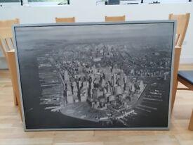 Canvas of Manhattan, New York in 1930s