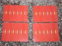 NEXT Place Mats x 4. Red with orange & white spots design. VGC. Torquay. £3.50