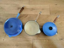 Cousances (Le creuset) pots pans skillet wok frying pan