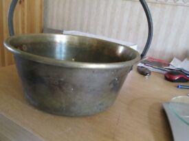 Antique Medium Brass Cooking Pot – Cauldron ref-1.524kgb5brass19