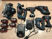 Bosch 18v LI ion cordless 6 piece kit