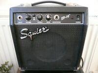 Fender Squier SP-10 Guitar practice Amp Amplifier Electric VGC