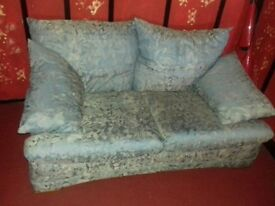 Two seater settee and single chair. Ready to pick up. £20 or nearest offer. Good condition