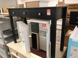 3 drawer black dressing table