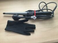 Babyliss cone shaped styling wand with heat resistant glove