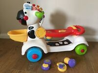 Vtech 3-in-1 Zebra Scooter, Ride On, Push Along - Excellent Condition