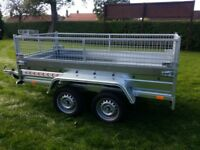 NEW Car trailer 7.7 x 4.2 twin axle with mesh £1050 inc vat