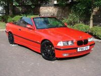 EXCELLENT EXAMPLE!! 1996 BMW 3 SERIES 2.8 328i 2dr CONVERTIBLE, FULL LEATHER, LONG MOT, M3 EXTRAS
