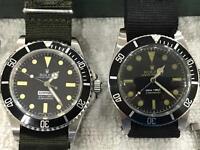 Pair of vintage Rolex submariners