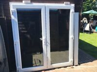 Upvc Patio French Doors In Frame