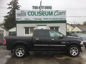 2016 Dodge Ram 1500 LARAMIE, 4X4, LEATHER, NAV, LOADED, 12KM