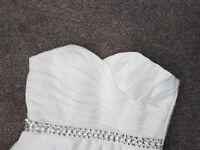 Tea Length sweet heart neckline wedding dress - size 10