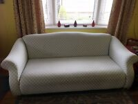 Sofas from DFS, x2 and a footstool