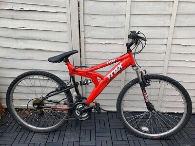 Trax Full Suspension Mountain Bike - Red