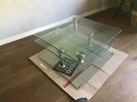 Designer coffee table. Rotating