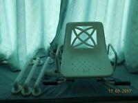 MYCO Swivel Bather (Adjustable width) plus 3 x bathroom grab rails