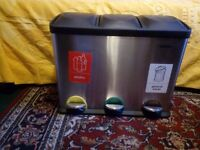 VonHaus 45L Pedal Recycling Bin