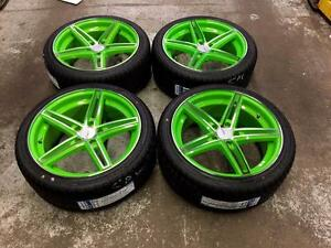 18 Lime Green Wheels 5x112 and All Season (Volkswagen, Audi, Mercedes)  $$On Sale$$ Calgary Alberta Preview