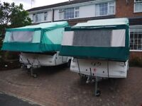 Choice of 2 Pennine folding Campers, both 2006 - both same price each