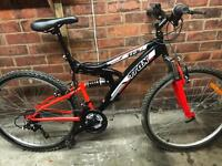 adults trax trs mountain bike hardly used