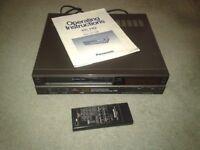 Panasonic VCR.