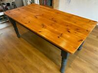 Pine kitchen dining table