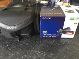 Sony Camcorder and black carry case