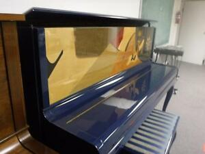 Rare Blue Art-Case Piano with Humidity Control System