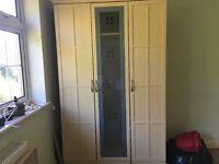 Beech 3 door wardrobe