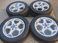 "ford focus mondeo transit connect 16"" alloy wheels all tyres are like new"