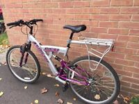 mountain bike with dual suspension - in good/new condition