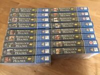 Sherlock Holmes VHS Tapes all in Excellent Condition