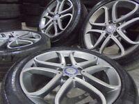 17inch genuine mercedes benz ALLOYS WHEELS STAGERED vito ,A ,C CLASS c63 amg