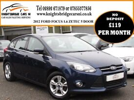 2012 FORD FOCUS 1.6 ZETEC 2 OWNERS 95k FULL SERVICE HISTORY MOT'D MAY 2018 EXCELLENT CONDITION