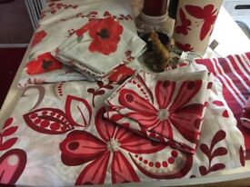 Red Bedroom Bundle, bedding and other items